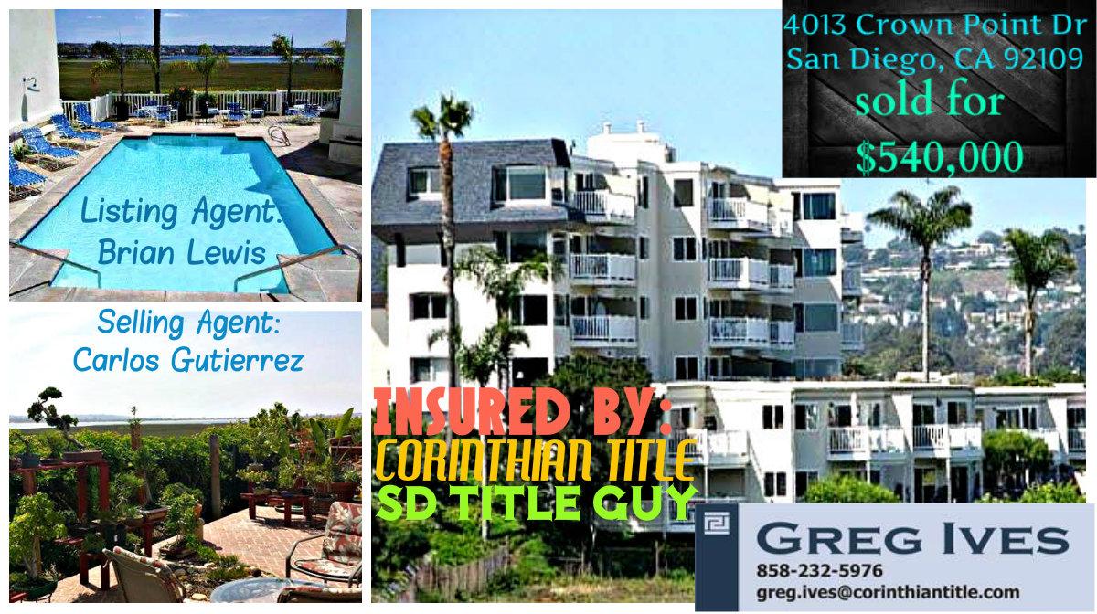 4013 Crown Point Dr San Diego, CA 92109